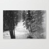Crashing Through Trees Canvas Print