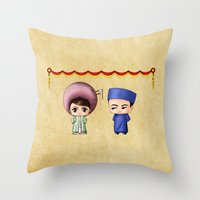 Vietnamese Chibis Throw Pillow