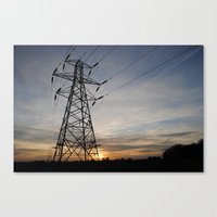 Pylons Are Lonely Canvas Print