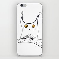 Squarish Owl iPhone & iPod Skin