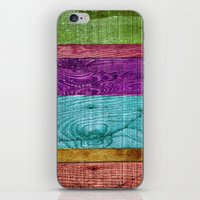 Colorful Wood  iPhone & iPod Skin
