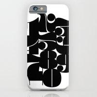 Numbers Black iPhone 6 Slim Case