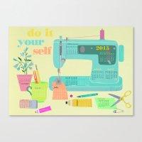 DIY Calender 2015 Canvas Print