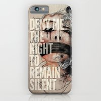 iPhone & iPod Case featuring Deny me the right to remain silent. by Manolibera