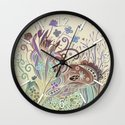 Thistle_tangle Wall Clock
