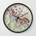 Thistle_tangle Wall Clock