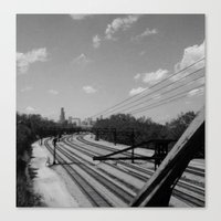 Chicago From The South Canvas Print