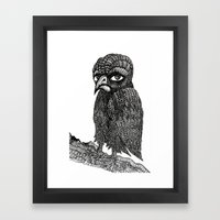 Morbid bird Framed Art Print
