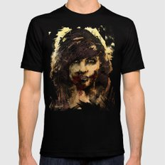 Female Zombie Mens Fitted Tee SMALL Black