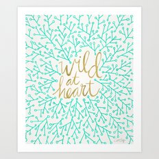 Wild At Heart – Turquo… Art Print