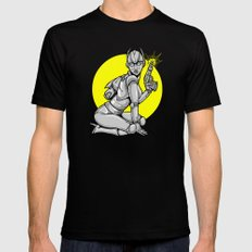 Robot Pinup Mens Fitted Tee Black SMALL