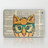 Orange Kitty Cat Laptop & iPad Skin