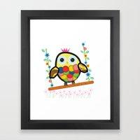 Swinging Owl Framed Art Print