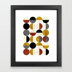 Half circles Framed Art Print