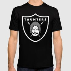 Taunters Mens Fitted Tee SMALL Black