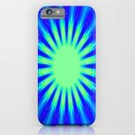 Aqua Starburst iPhone 6 Slim Case