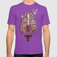 Deer & Ribcage Mens Fitted Tee Ultraviolet SMALL