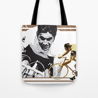 cycling legend Eddy 'The Cannibal' Merckx Tote Bag