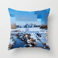 The Barn Looks Kinda Blocked In Throw Pillow
