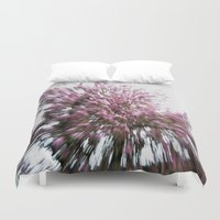 Abstract Pink Flowers 2 Duvet Cover