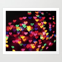 Hearts All Over Art Print