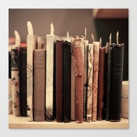 Old Books (brown) Canvas Print