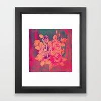 Vintage Pink Flowers  Framed Art Print