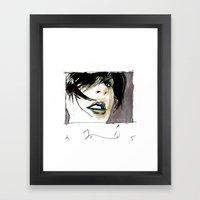 lady opiate Framed Art Print
