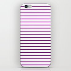 Horizontal Lines (Purple/White) iPhone & iPod Skin