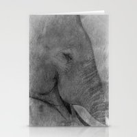 Asian Elephant Stationery Cards