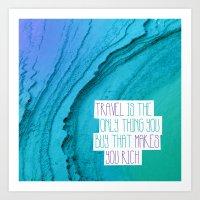 Travel mindfulness print Art Print