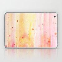 Pink Rain Watercolor Texture Laptop & iPad Skin