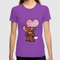 Love bear Womens Fitted Tee Ultraviolet SMALL