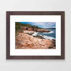Acadia National Park - Thunder Hole Framed Art Print