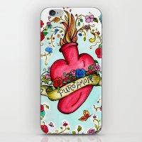 Botanical Heart Illustra… iPhone & iPod Skin