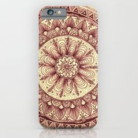 iPhone & iPod Case featuring mandala: maroon by Yes Menu