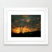 Cloud Interference  Framed Art Print