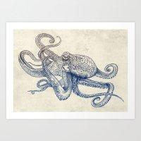 Octo Flow Art Print