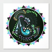 Formed in Space  Canvas Print
