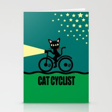 Cat Cyclist Stationery Cards