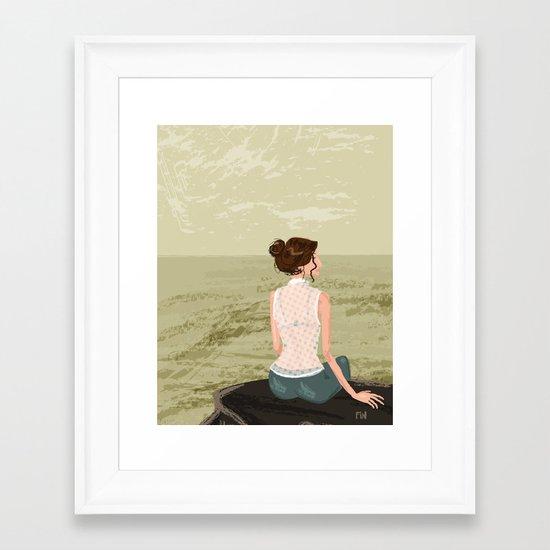 Girl by the Sea Framed Art Print