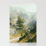 Green Pine Stationery Cards