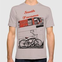 Beach city cruiser Mens Fitted Tee Cinder SMALL