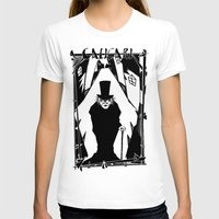 Dr. Caligari Womens Fitted Tee White SMALL