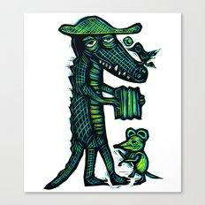 Cajun Gator Canvas Print