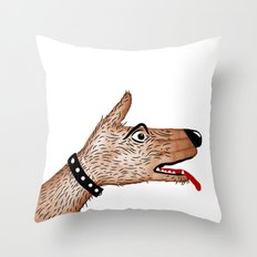 You Ain't Nothin' But A Hand Dog Throw Pillow