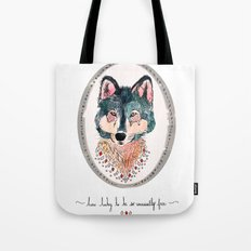 how lucky to be so unusually free Tote Bag