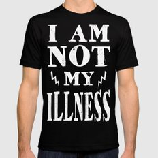 I Am Not My Illness - Print Mens Fitted Tee Black SMALL