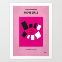 No458 My Mean Girls minimal movie poster Art Print