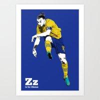 Z Is For Zlatan Art Print